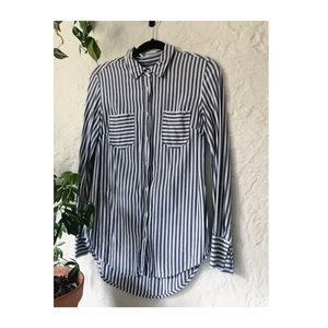 Mixed stripe button down